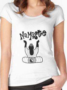 """Namaste"" Buddha Women's Fitted Scoop T-Shirt"