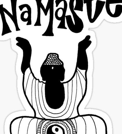 """Namaste"" Buddha Sticker"