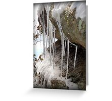 Droplets Frozen in Time  Greeting Card