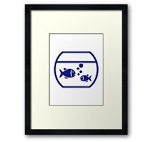 Blue Aquarium Fish Framed Print