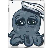octopus tentacles ocean sea sailor blue baby cartoon  iPad Case/Skin