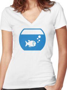 Blue Aquarium Women's Fitted V-Neck T-Shirt