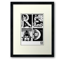 Read! Science Fiction Alphabet Letter design Framed Print