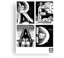 Read! Science Fiction Alphabet Letter design Canvas Print