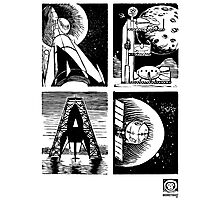 Read! Science Fiction Alphabet Letter design Photographic Print