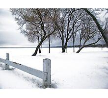 winter-lakeside Photographic Print
