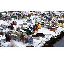 Fjordgård i Senja Photographic Print