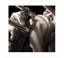 Slide, Trumpet Player Oil Painting Art Print