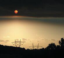 Bushfire Sunset by Scribbler