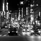 Ginza by night - Tokyo, Japan by Norman Repacholi