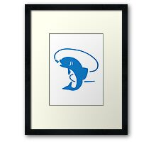 Blue fish fishing Framed Print