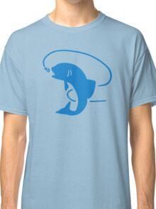 Blue fish fishing Classic T-Shirt