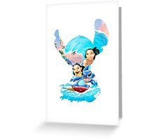 Stitch And His Ohana Greeting Card