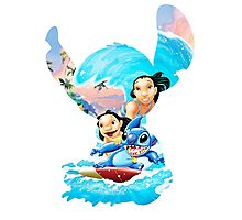 Stitch And His Ohana Photographic Print