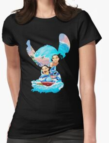 Stitch And His Ohana Womens Fitted T-Shirt