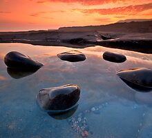 Five Rocks in a Rockpool by stephen foote