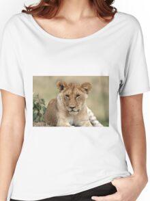 Masai Mara Lion Portrait  Women's Relaxed Fit T-Shirt
