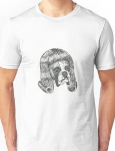 Boxer in a wig Unisex T-Shirt