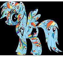 Rainbow Dash Splash Photographic Print