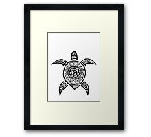 Hippie Sea Turtle Framed Print