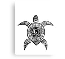 Hippie Sea Turtle Metal Print