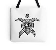 Hippie Sea Turtle Tote Bag
