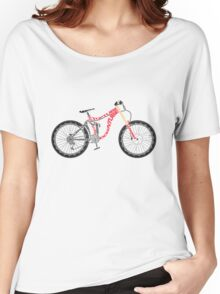 Typographical Anatomy of a Down Hill Bike Women's Relaxed Fit T-Shirt