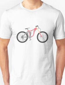 Typographical Anatomy of a Down Hill Bike Unisex T-Shirt