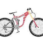 Typographical Anatomy of a Down Hill Bike by jarodface