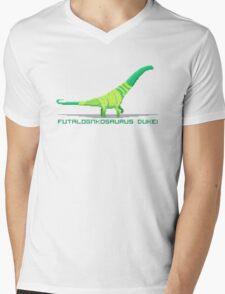 Pixel Futalognkosaurus Mens V-Neck T-Shirt