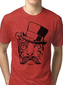 Dapper Tiger Tri-blend T-Shirt