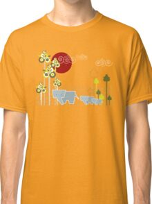 Ellephant Family In The Forest Classic T-Shirt