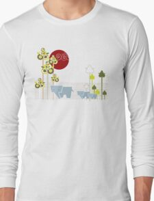 Ellephant Family In The Forest Long Sleeve T-Shirt