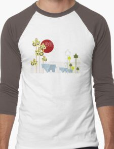 Ellephant Family In The Forest Men's Baseball ¾ T-Shirt