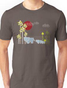 Ellephant Family In The Forest Unisex T-Shirt
