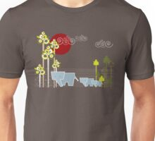 Ellephant Family In The Forest Unisex T-Shirt