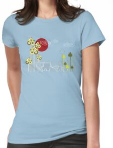 Ellephant Family In The Forest Womens Fitted T-Shirt