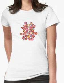 Spring Flowers Double Happiness Chinese Wedding Symbol T-Shirt