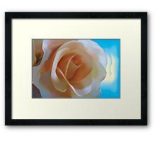 Simple Rose - Vector Illustration Framed Print
