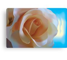 Simple Rose - Vector Illustration Canvas Print