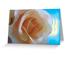 Simple Rose - Vector Illustration Greeting Card