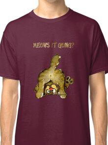 Meows It Going Cat Cartoon for Darks Classic T-Shirt