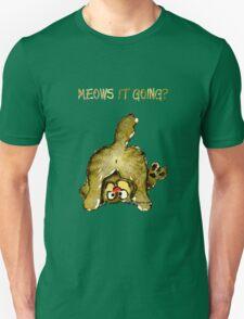 Meows It Going Cat Cartoon for Darks Unisex T-Shirt