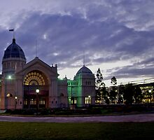 The Royal Exhibition Buildings at Twilight in Autumn by Ashley Ng