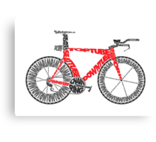 Anatomy of a Time Trial Bike Canvas Print
