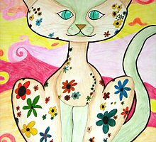 Funky Cat by drowsybutterfly