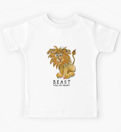 Beast Still My Heart Cartoon Lion Kids Tee