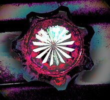 CRIMSON and CLOVER, abstract photo flipped by ackelly4