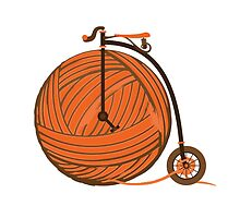 Orange Yarn Farthing by jarodface