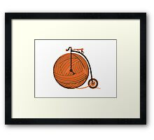 Orange Yarn Farthing Framed Print